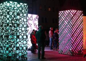 Atomic-Panels bei der 12. Langen Kunstnacht in der Leonberger Altstadt