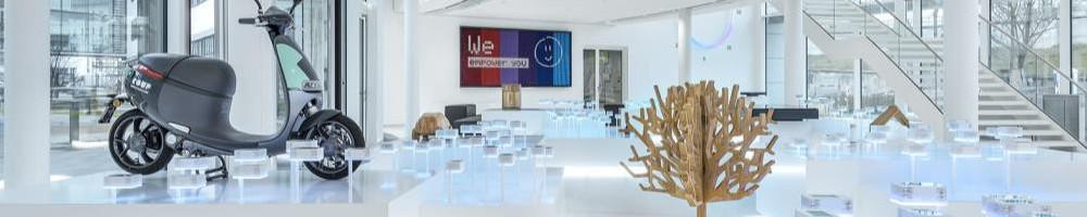 Bosch-Foyer: Milla & Partner erschafft vernetzte Wissenslandschaft