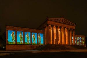Titan Laser Projektoren beleuchten Münchner Kunstareal