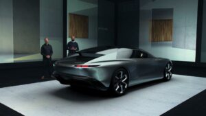Jason Battersby, Design Exterior und Amar Vaya, Design Exterior von Audi mit dem grandsphere concept (v.l., Foto: Audi AG)
